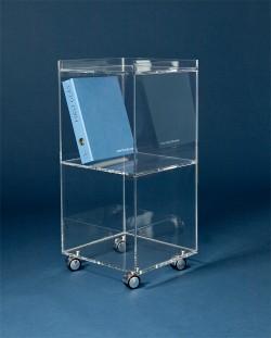 Acrylglas Aktenrollwagen