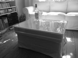 Acrylglas-Hockertablett