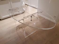 Acrylglas Klapp-Esstisch