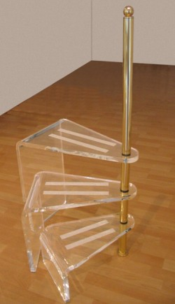 Acrylglas Bibliotheks-Leiter