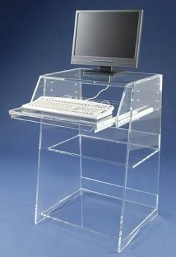 Acrylglas-Computertisch