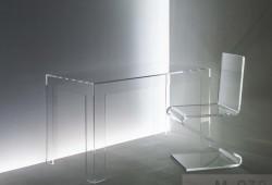 Acrylglas Schreibtisch / Esstisch