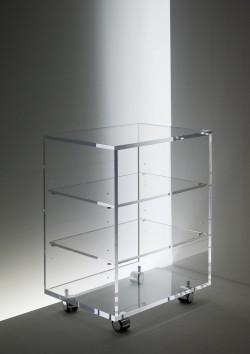 Acrylglas HiFi  / TV Rollwagen