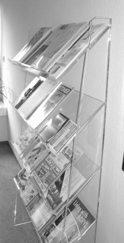 Acrylglas Prospektregal