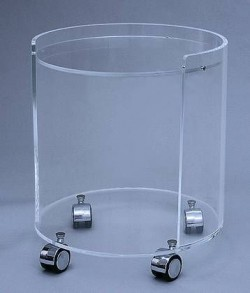 Runder Acrylglas Rollwagen