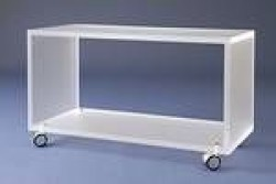 Acrylglas-Rollwagen satinert