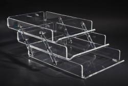 Acrylglas Ablagekorb 3-fach