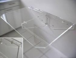Acrylglas-Klapptisch