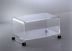 Acrylglas TV-Rollwagen