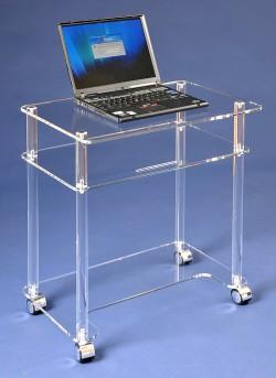Acrylglas Laptop-Rolltisch