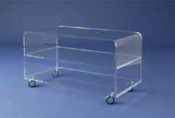 Acrylglas-TV-Rollwagen