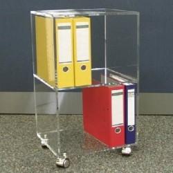 Acrylglas-Aktenrollwagen