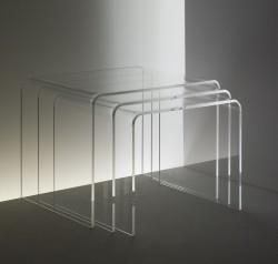 Acrylglas 3-Satz-Tisch
