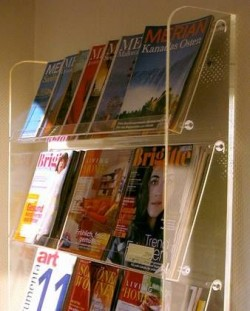 Acrylglas Zeitschriften / Prospekt Regal