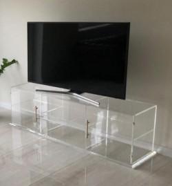 Acrylglas-TV-Konsole