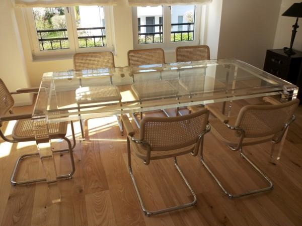 acrylglas esstisch m bel glanz der spezialist f r acrylglasm bel. Black Bedroom Furniture Sets. Home Design Ideas