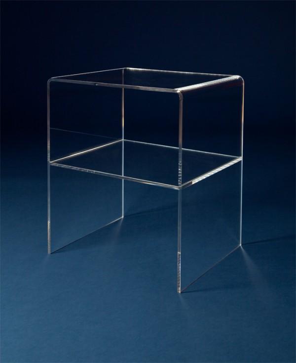 acrylglas beistelltisch m bel glanz der spezialist f r acrylglasm bel. Black Bedroom Furniture Sets. Home Design Ideas