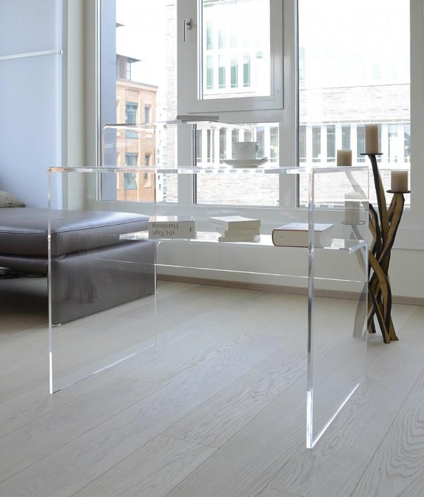 acrylglas schreibtisch schreibtische m bel glanz der spezialist f r acrylglasm bel. Black Bedroom Furniture Sets. Home Design Ideas