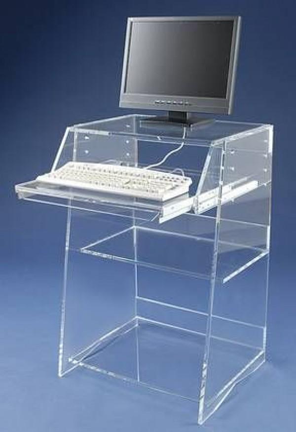computer tisch acrylglas computertisch mabel glanz der spezialist fa 1 4 r acrylglasmabel kaufen ebay