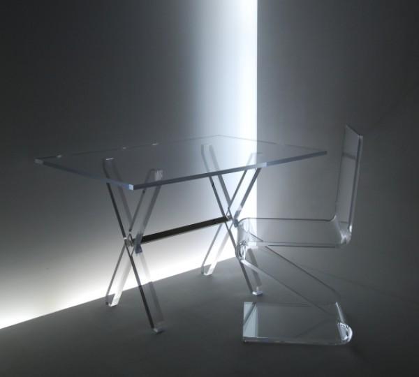 acrylglas tisch esstische m bel glanz der spezialist. Black Bedroom Furniture Sets. Home Design Ideas