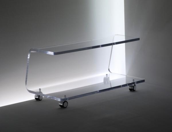 acrylglas tv rollwagen tv hifi m bel m bel glanz der. Black Bedroom Furniture Sets. Home Design Ideas